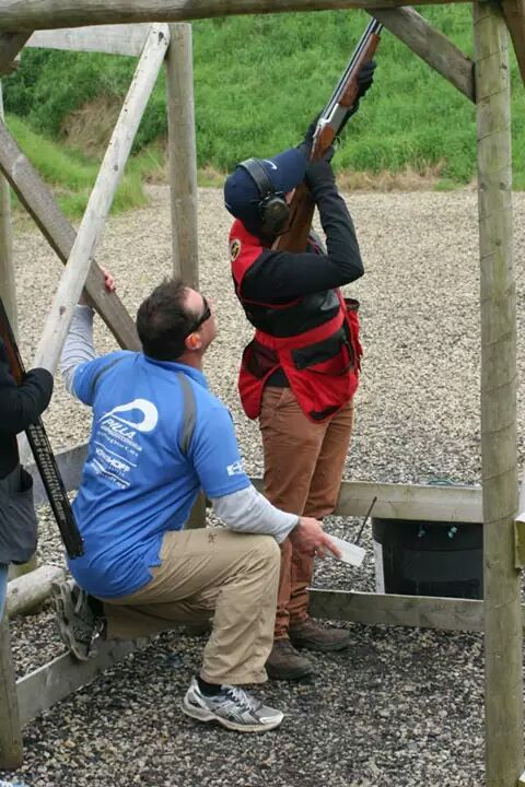 Julian Morris coaching clay shooting